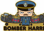 ICONZ CARTOON TEE SHIRT BOMBER HARRIS LANCASTER BOMBER COMMAND DAM BUSTERS WW2.