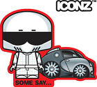 ICONZ CARTOON TEE SHIRT SOME SAY BUGATTI VEYRON DUNSFOLD SUZUKI LIANA.
