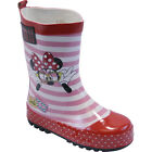 GIRLS DISNEY MINNIE MOUSE WINTER SNOW MUCKER WATERPROOF WELLIES BOOTS Z*