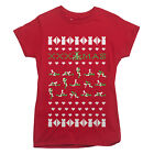 XXX SEXY UGLY CHRISTMAS SWEATER STYLE T-shirt shirt LADIES S-XXL