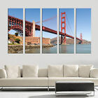 GOLDEN GATE BRIDGE 5 panel wall art mounted on MDF/Better than stretched canvas