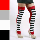 1261 Long Black White Striped Circus Leg Warmers Tights Leggings Trapeze Aerial