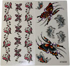 2 x Temporary Tattoo Butterflies Butterfly Tattoos ~ Random