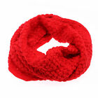 Winter Women Warm Stylish 2 Circle Cable Knit Cowl Neck Long Scarf Shawl