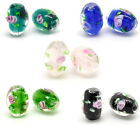 Wholesale Lots Mixed Flower Glass Lampwork Beads 14x10mm