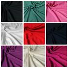 Plain Dyed 100% Viscose Fabric - Various Colours - Floaty Summer *Per Metre