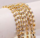 1 Meter 4mm Silver Gold Plated Trim AB Color Rhinestone Crystal Chains DIY