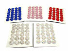 SHAMBALLA STYLE HALF BALL CRYSTAL STUD EARRINGS BLUE RED PINK SILVER AB NEW