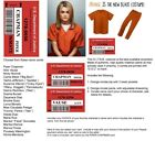 Orange is the New Black WOMENS 2 pc PRISON COSTUME cosplay Inmate Halloween dvd  <br/> FREE NAME BADGE UR CHOICE &amp; FREE SHIP 4 Multiple Orders