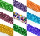 4/6/8/10mm Smooth Candy Color Ball Cat's Eye Loose Bead Spacer For DIY