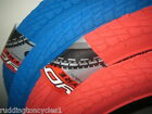 Coyote coloured Freestyle 20 x 1.95 BMX Bike / Cycle Ramp Tyres Red and Blue