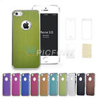 For iPhone 5 5S Aluminum Steel Chrome Hard Cover Case with Film Protector +Cloth