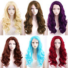 "24"" New Long Curly Wavy Blonde / Red / Pink / Purple / Blue Lace Front Hair Wig"