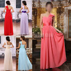 Stunning Womens Chiffon Bridesmaid Wedding Long Cocktail Party Evening Dresses