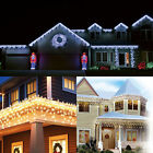 5M 224 LED INDOOR OUTDOOR CHRISTMAS/PARTY FAIRY ICICLE SNOWING LIGHTS 8 FUNCTION