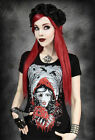 Restyle T-Shirt Gothic Red Riding Hood Rockabilly Zombie Grimm Rotkäppchen RS1