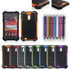 Heavy Duty Hybrid Shockproof Silicone Rubber Case For Samsung Galaxy S2 II D710