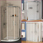 Easy Walk in Glass Quadrant Corner Sliding Door Shower Enclosure Cubicle & Tray