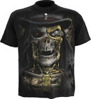 Spiral Direct STEAM PUNK REAPER T-Shirt Top Victorian Steampunk Skull Biker Goth