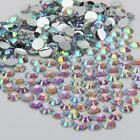 Iridescent A/B sparkling Resin Rhinestone Flatback Crystal 2/3/4/5/6MM 14 Facets