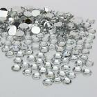 clear sparkling Resin Rhinestone Flatback Crystal 2/3/4/5/6MM 14 Facets