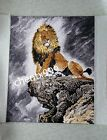 New completed finished needlepoint Embroidery gift-mighty lion -soft framed