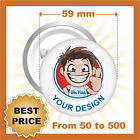 CUSTOM 59 mm BADGES , YOUR TEXT OR IMAGE, PINS / BUTTON, BEST PRICE EVER!