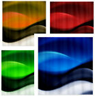 Abstract Ocean Waves - Fabric Polyester Shower Curtain -  Decorative Colorful