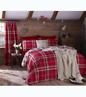Catherine Lansfield Cotton Rich Reversible Kelso Tartan Duvet Set