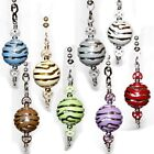Tiger Striped Pull Chain acrylic beads your Ceiling fan Light Lamp Switch