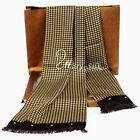 Luxurious Gift!   New 100%  Mulberry Silk Long scarf  Winter  Black Red ●W80#