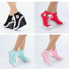 Wedges Trainers Heels Sneakers Platform High Top Ankles Boots Shoes 775 RubyRuby