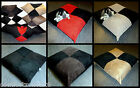 ZIPPY BEANBAG DOG BED - CHECK JUMBO CORD & SUEDE - WASHABLE BEAN BAG MATTRESS