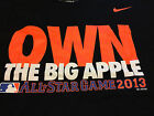 New York Mets OWN THE BIG APPLE MLB 2013 All Star Game Shirt NEW NWT Nike