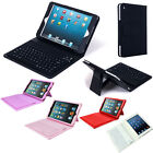 PU Leather Bluetooth Wireless Keyboard Flip Case + Stand For Apple iPad Mini New