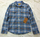 True Religion Polar Blue Lumberjack Plaid Long Sleeve Button-Up Flannel Shirt