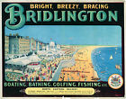 A3/A4 VINTAGE RAILWAY POSTER  RE-PRINT (BRIDLINGTON)