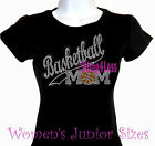 Basketball Mom - Banner SLANT - Rhinestone Iron on T-Shirt - Bling Sports Top
