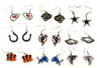 Dangle Pendant Earrings *NFL Football* (AFC/NFC) Logo Design *Select Your Team* on eBay