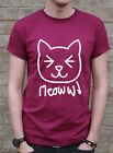 Cat Meow Tshirt Maroon Funny Cute Animal Hipster Tumblr Gift T Shirt J0786