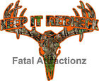 Camo Orange Keep It Redneck  Deer Skull S4 Vinyl Sticker Decal buck hunting