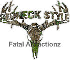 Camo Redneck Style  Deer Skull S4 Vinyl Sticker Decal buck hunting