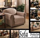 Sofa Chair Furniture Protector Luxury Quilted Slip Cover Throw 1 & 3 Seater New
