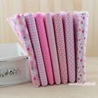 "Pink Series 7 Assorted Pre-Cut Charm Cotton Quilt Fabric 19.7"" Fat Quarters"