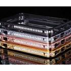 Rhinestone Deluxe Crystal Metal Aluminium Bling Case Bumper For iPhone 4 4S 5 5S