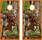 head hunter camo  Cornhole BagToss Game Sticker Decal Set Wrap Wraps