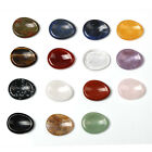 Natural Red Jasper Sodalite Carved Crystal Healing Worry Stone Massage Stone