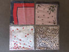 SILK BLEND SCARF 4 VARIATIONS LEOPARD PRINT STRIPED FLOWER APROX 20INCH SQUARE