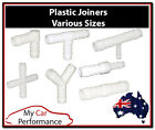 Plastic Joiner Barbed Connector Pipe Hose Tubing Fittings Air Fuel Water Petrol