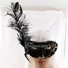 Masquerade Fancy Dress Party Sexy Carnival Feather  Venetian Mask Wig Option MA2